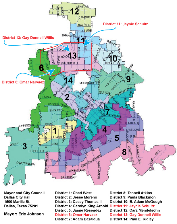 Maps of Preston Hollow Dallas District Map on